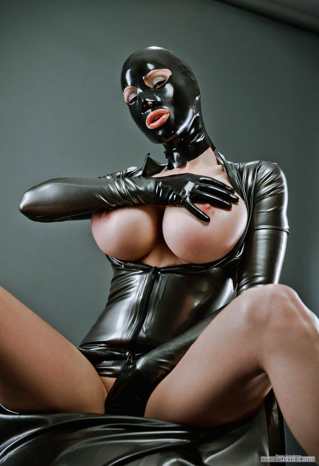 Breasts Female Gloves Latex Amabitch 1