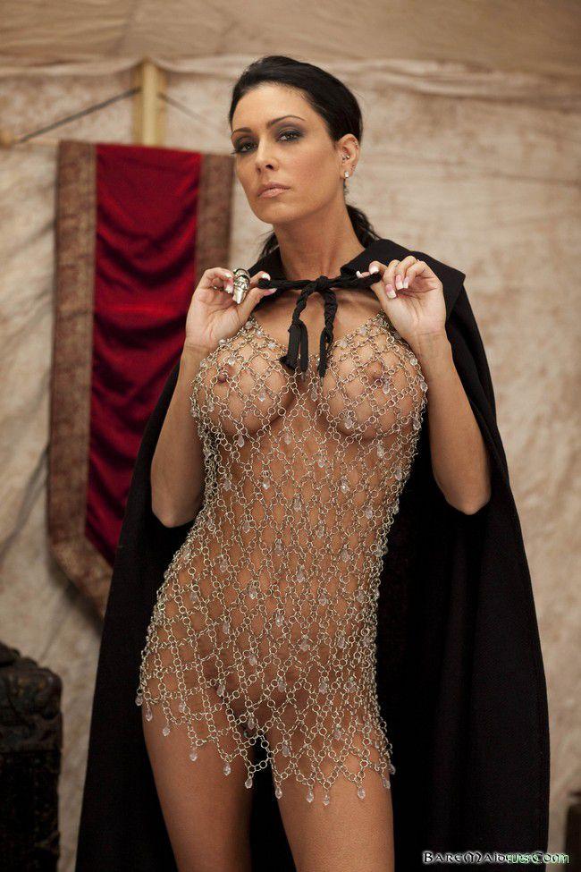 прозрачное вечернее платье на голом теле - 13